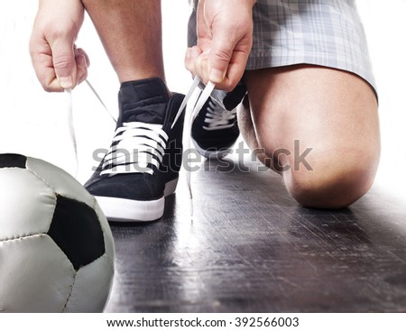 Ur going to play football. - stock photo