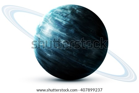 Uranus - High resolution 3D images presents planets of the solar system. This image elements furnished by NASA - stock photo