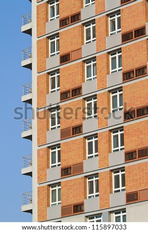 urban apartment window and  building - stock photo
