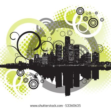 Urban background - stock photo