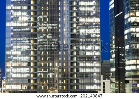 Urban building of tokyo - stock photo