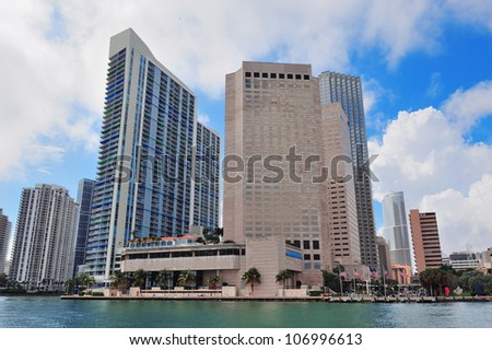 Urban city architecture. Miami downtown in the day. - stock photo