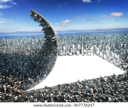 Urban development sci-fi - stock photo