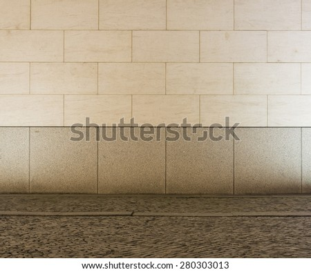 Urban empty street wall background  - stock photo