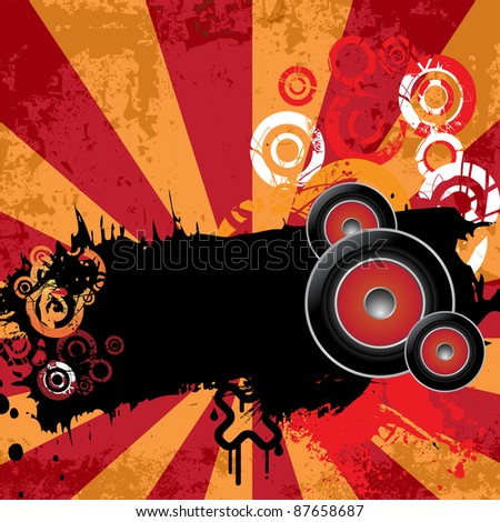 Urban grungy music background with place for text, raster - stock photo