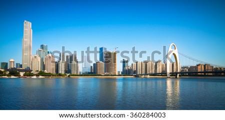 Urban Landscape of Guangzhou,China - stock photo