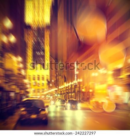 Urban life. Chicago at night. - stock photo