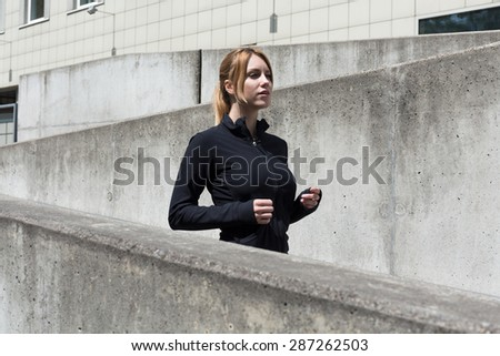 Urban people have to choose beton places for training - stock photo