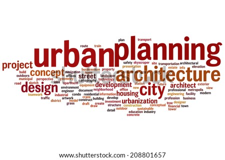 Urban Planning Concepts Urban Planning Concept Word
