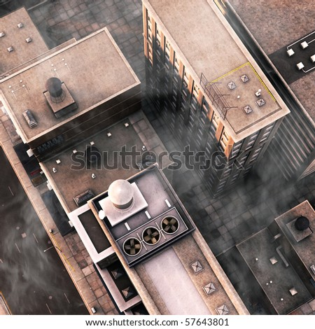 Urban Rooftops - stock photo