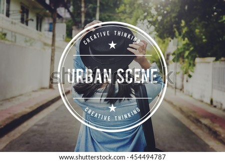 Urban Scene Leisure Travel City Life Concept - stock photo