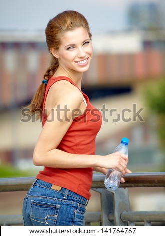 Urban sports - fitness in the city - stock photo