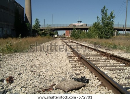 Urban Train Tracks - stock photo