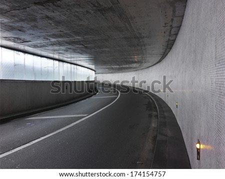 urban tunnel in paris - stock photo