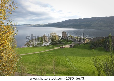 Urquhart castle, Loch Ness, Scotland. - stock photo
