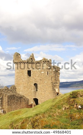 Urquhart Castle on Loch Ness - stock photo