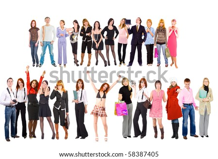 Us and Them - stock photo