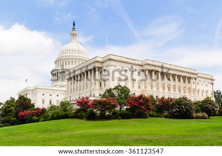 US Capitol Building - Washington DC - USA - stock photo