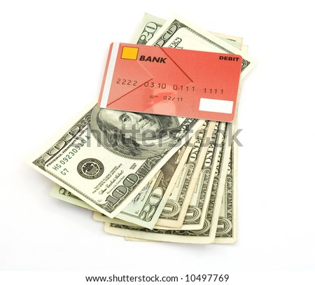 us dollar bank notes studio isolated - stock photo