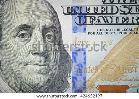 US dollar bill close up - stock photo