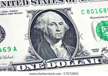 us dollar in macro shot - stock photo