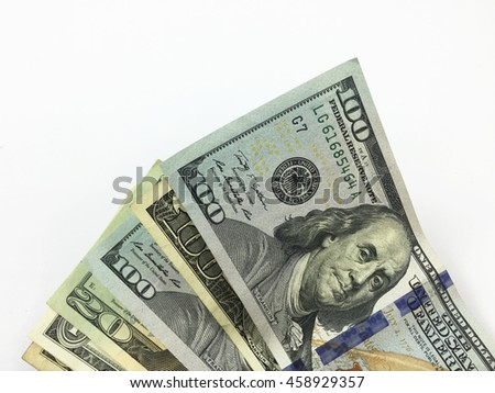US Dollars  - stock photo