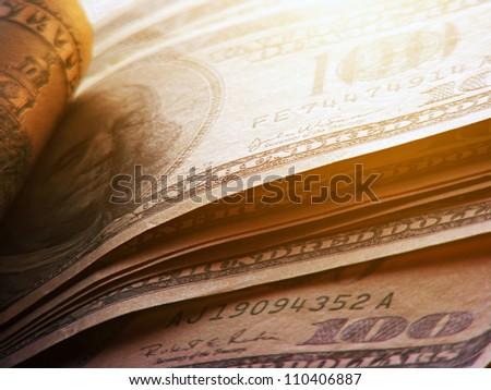US dollars. Money concept. - stock photo
