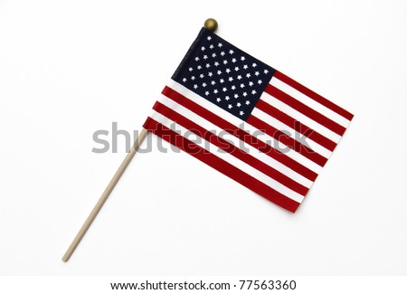 US Flag on Pole - stock photo