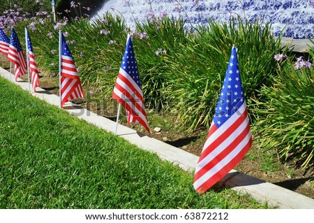 US flags decoration - stock photo