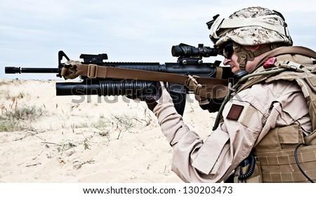 US marine - stock photo