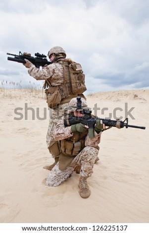 US marines - stock photo