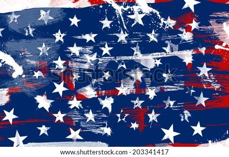 US patriotic background texture - stock photo