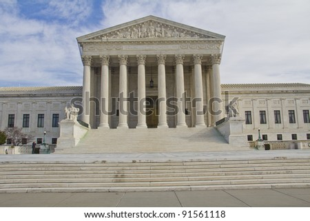 US Supreme Court in Washington, DC, Front view - stock photo