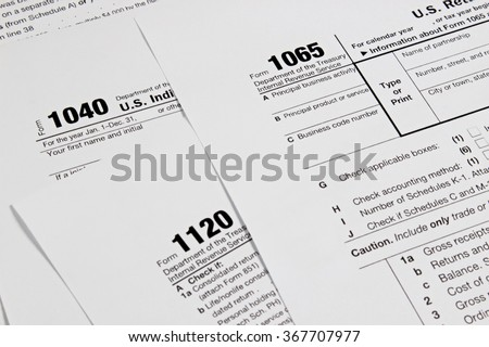 US tax form / taxation concept - stock photo