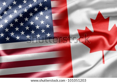 USA and Canada - stock photo