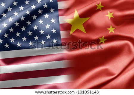 USA and China - stock photo