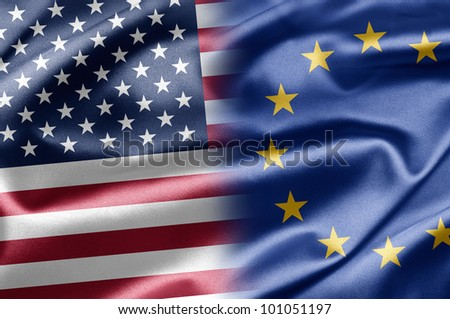 USA and EU - stock photo