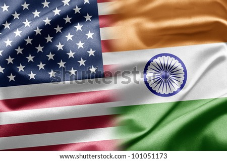 USA and India - stock photo