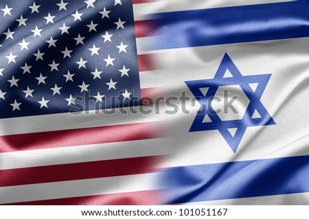 USA and Israel - stock photo