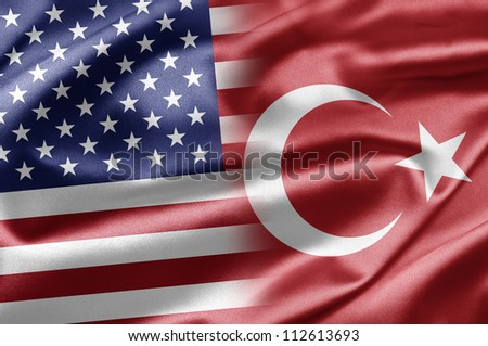 USA and Turkey - stock photo