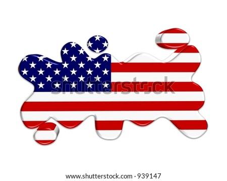 USA button 3D - stock photo