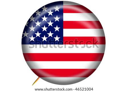 USA Button Graphic - stock photo