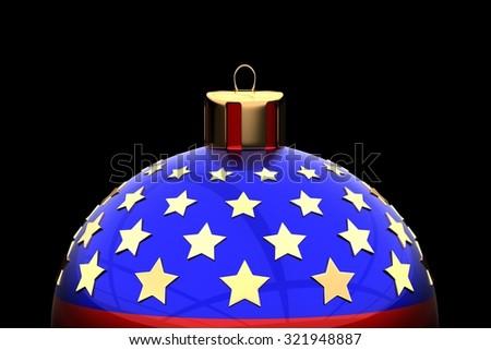 USA Christmas ball - stock photo