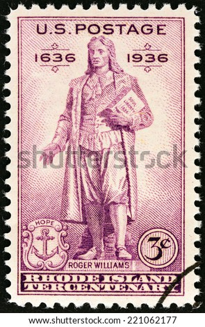 To  Roger Williams Rhode Island Stamp