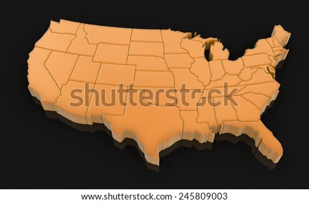 USA (clipping path included) Elements of this image furnished by NASA - stock photo