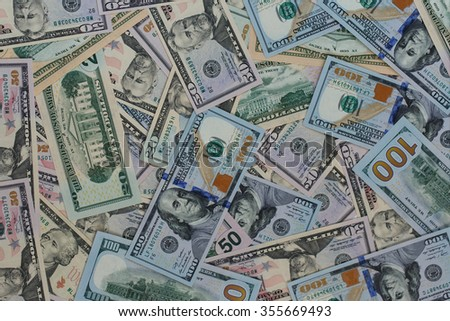 USA dollar money banknotes texture background - stock photo