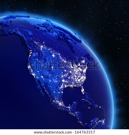 USA. Elements of this image furnished by NASA - stock photo