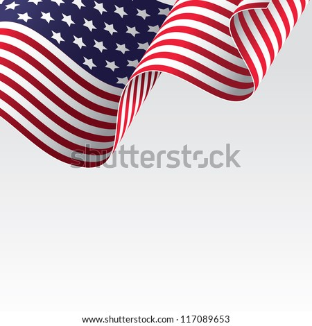 USA flag, raster version - vector version also available - stock photo