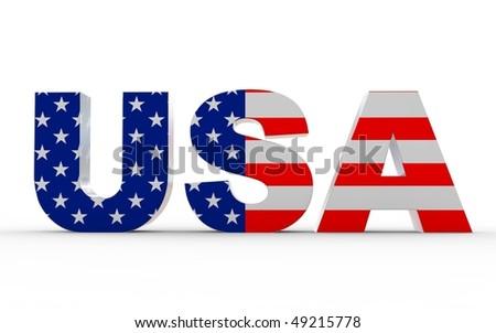 USA flag text - stock photo