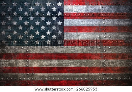 USA flag textured United Stats of America - stock photo